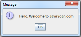 Java JOptionPane ShowMessageDialog
