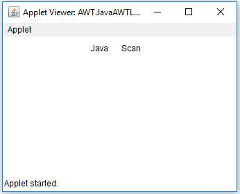 AWT Label In Java Example