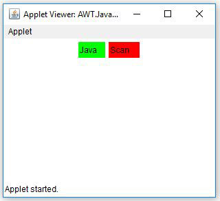 Java AWT Label Background Color Example