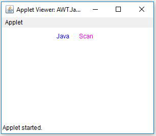 Java AWT Label Foreground Color Example