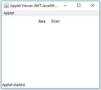 Java AWT Label Text Font Example