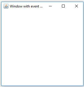 Java AWT Frame Window With Close Event Example
