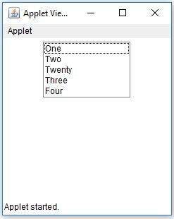Java AWT List Insert Item Example