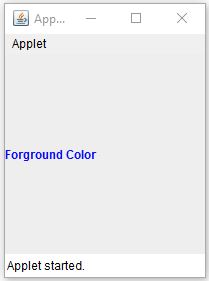 JLabel Foreground Color In Java