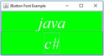Swing JButton Font In Java Example