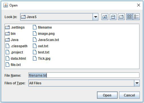 JFileChooser Setting The Selected File In Java