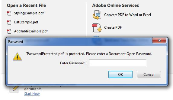 Password Protected PDF Files Using Java iText - JavaScan com