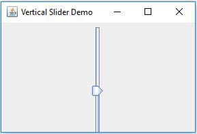 JSlider Vertical In Java