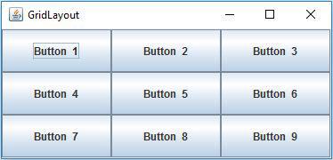 Java GridLayout Example - JavaScan com